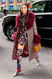 Hailee Steinfeld Looks Like A Floral Kaleidoscope Dream Out In NYC