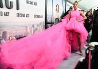 Jennifer Lopez Hot Pink Dress