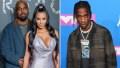 Kanye West Kim Kardashian Travis Scott Attend Concert No Drama