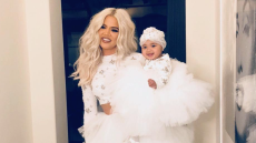 Khloe Kardashian and baby True Thompson