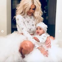 Khloe Kardashian and baby True Thompson
