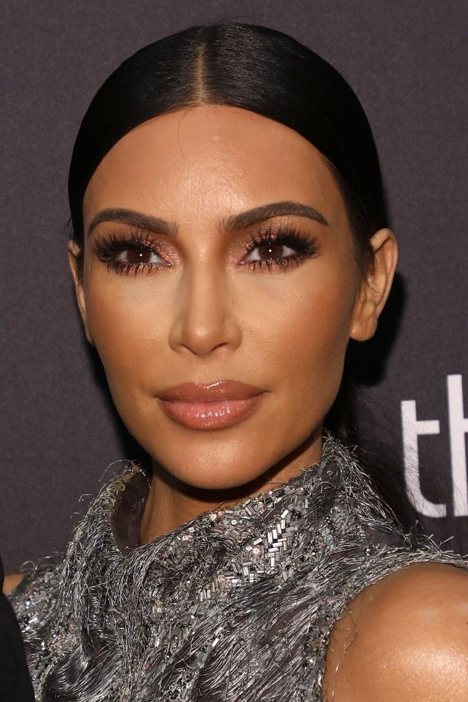 Kim Kardashian's face