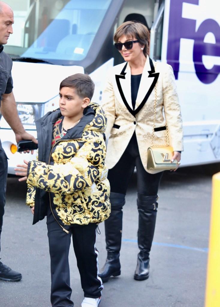 Kris Jenner Mason Disick Shopping Spree