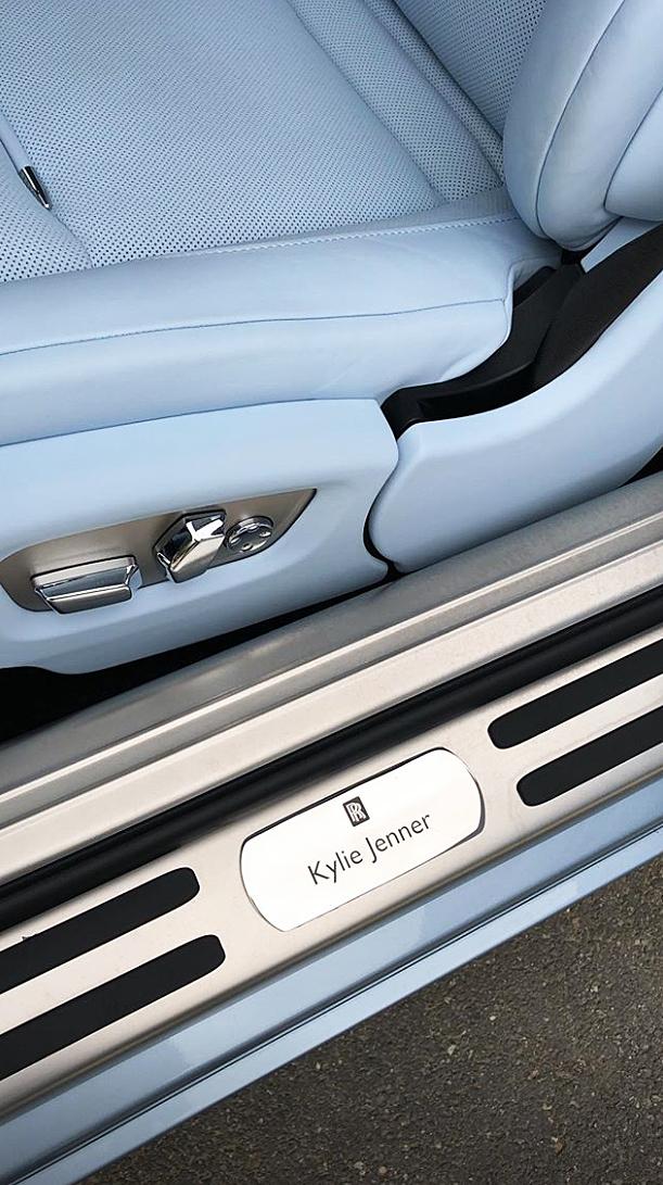 Kylie Jenner's New Custom Ice Blue Rolls Royce Is Gorgeous