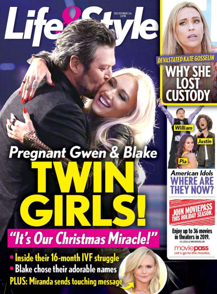 Life & Style magazine with Gwen Stefani and Blake Shelton on the cover