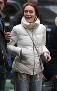 Lindsay Lohan NYC Happy