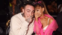 Mac Miller and Ariana Grande at the 2016 VMAs