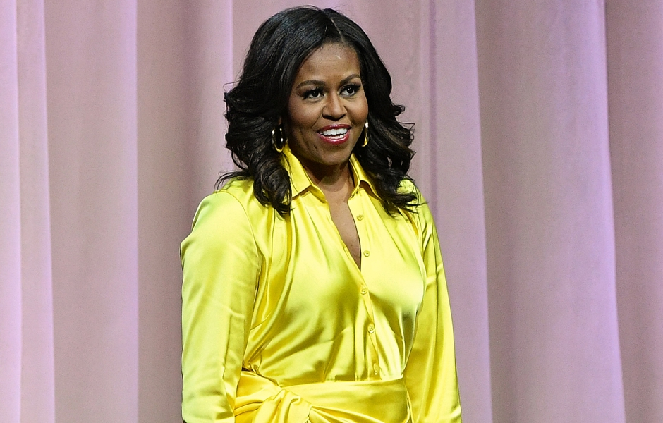 Michelle Obama Thigh-High Boots