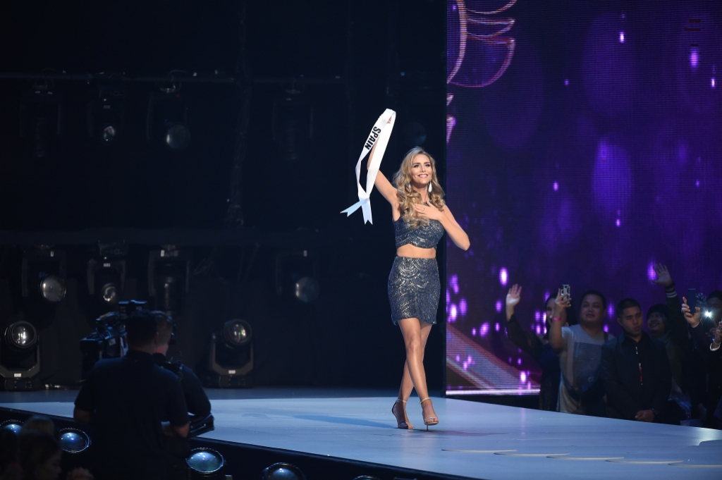 Angela Ponce competes in Miss Universe competition