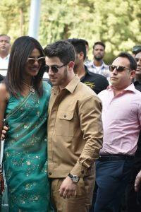 Nick Jonas and Priyanka Chopra at airport