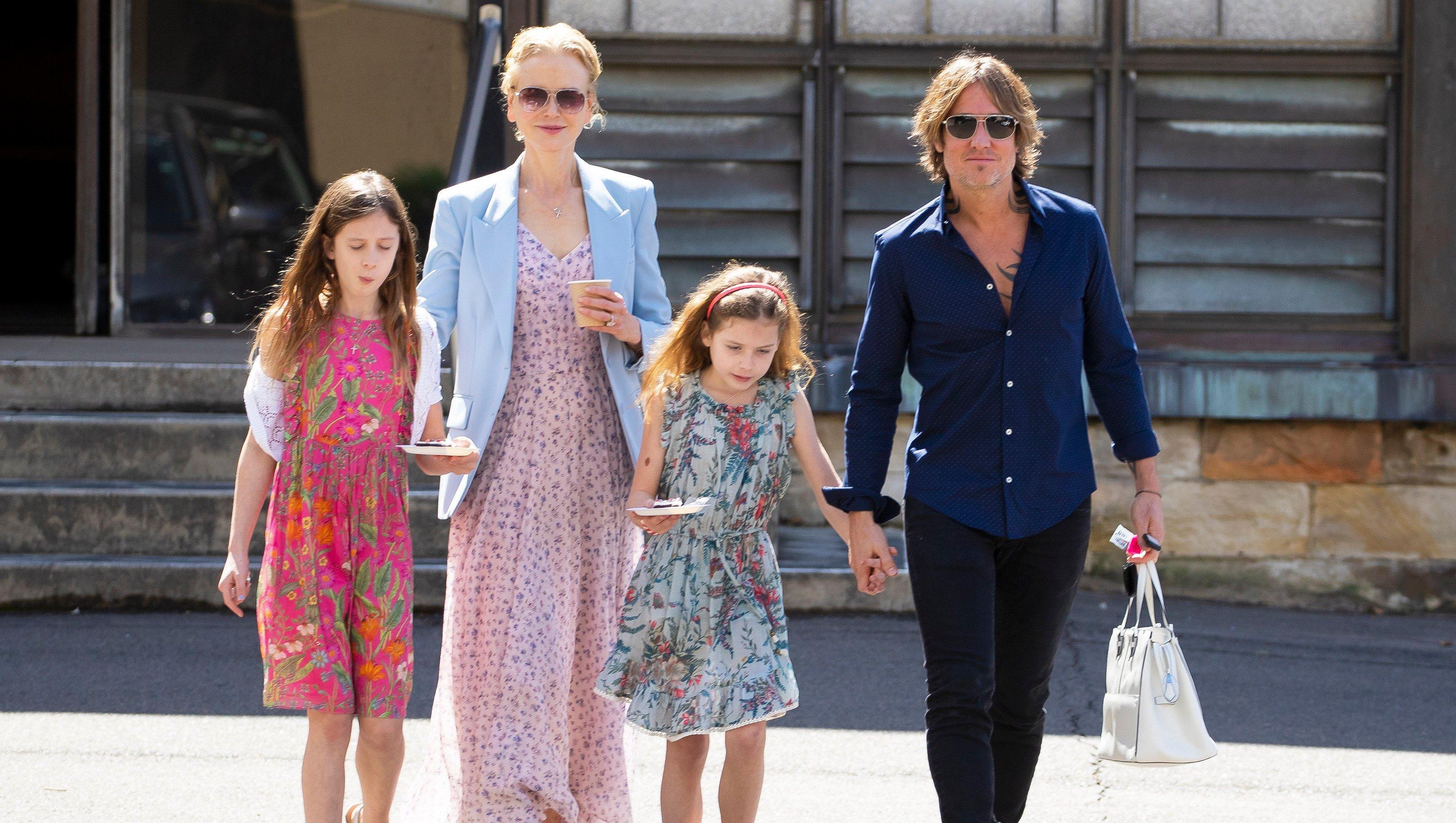 Nicole Kidman, Keith Urban, Kids, Walking