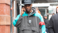 Travis Scott, Walking, NYC, Black Hat
