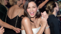 Jenna Dewan, Clapping, White Gown, Smiling