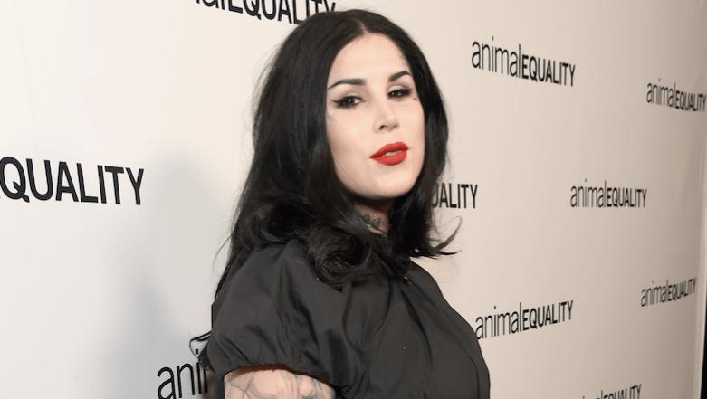 Kat Von D, Black Dress, Red Lipstick