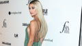 Hailey Baldwin, Posing, Green Dress, Long Hair