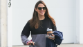 Jennifer Garner, Smiling, Sunglasses, Holding Coffee, Paparazzi Picture