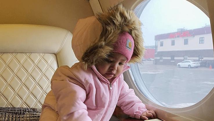Stormi Webster, Snow Suit, Pink Hat