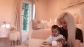 Khloe Kardashian reading to True Thompson