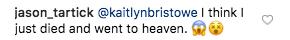 Bachelor Kaitlyn Bristowe Jason Tartick flirting on Instagram