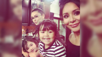 Snooki, JWoww, Daughters, Smiling