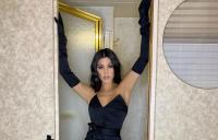 Kourtney Kardashian, Black Dress