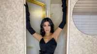 Kourtney Kardashian, Black Dress