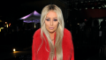 Aubrey O'Day, Red Outfit, Blonde Hair
