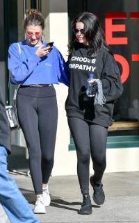 Selena Gomez Leaving Pilates