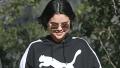 Selena Gomez, Smiling, Puma Sweatshirt, Sunglasses