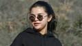 Selena Gomez HIKE Red Workout Pants