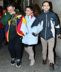 Ariana Grande NYC Cold Weather Friends