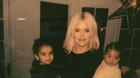 Khloe Kardashian with Dream and True