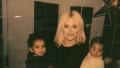 Khloe Kardashian with Dream and True