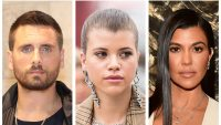 kourtney kardashian scott disick sofia richie uncomfortable thanksgiving