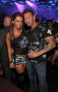 JWoww and Roger at a club