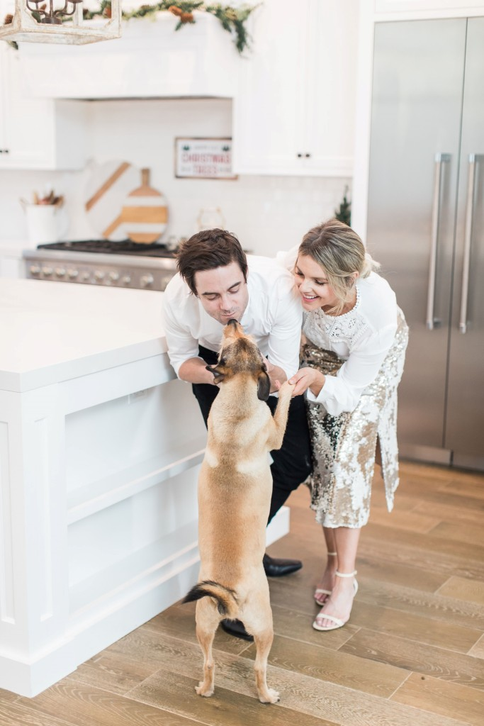 Ali Fedotowsky with her dog and Kevin Mannor