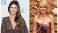 Split image of Katherine Schwarzenegger and Anna Faris