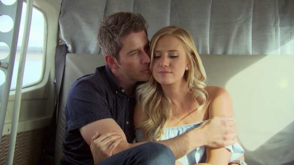 Arie And Lauren Snuggle On Plane Ride