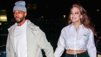 Ashley Graham and Justin Ervin Seen In New York City