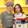 Brooklyn Beckham posing with his girlfriend Hana Cross