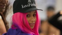Cardi B with pink hair