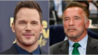 Chris Pratt and Arnold Schwarzenegger