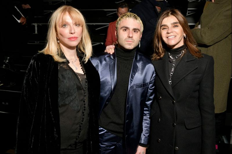 Courtney Love Cobain, Henri Alexander Levy, Carine Roitfeld_left to right