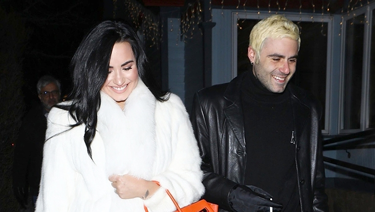 Demi Lovato Henry Levy Romantic New years Dinner