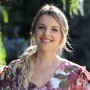 Ali Fedotowsky wearing a floral dress