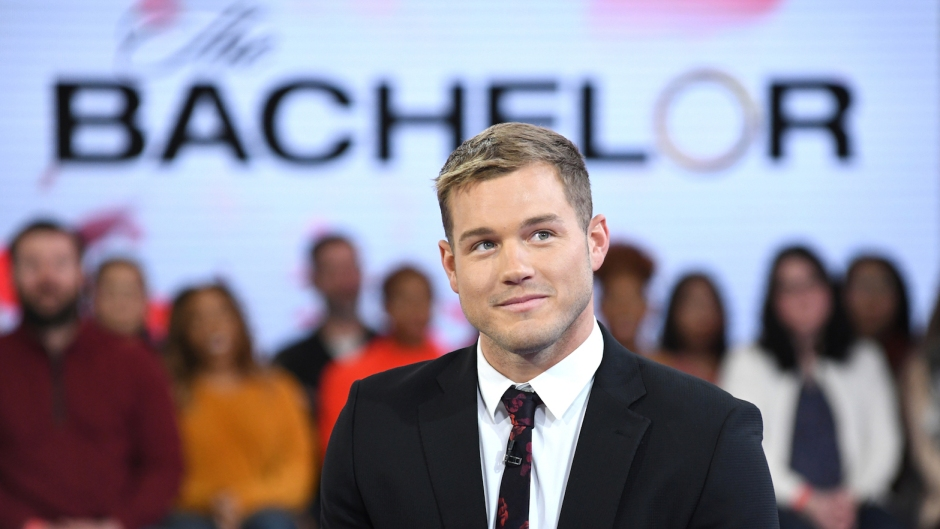 Colton Underwood wearing a suit on GMA