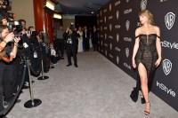 Taylor Swift Golden Globes black sheer dress