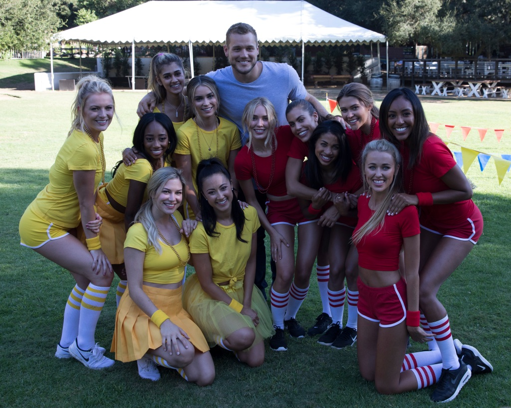 Colton Underwood with the other girls of The Bachelor