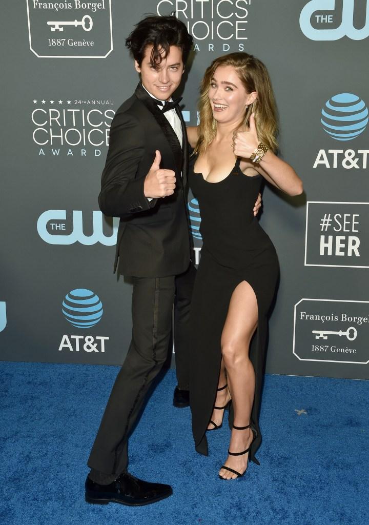 Cole Sprouse Haley Lu Richardson Critics Choice Awards