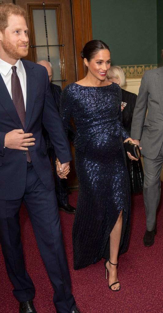 Meghan Markle sparkly blue sequin dress